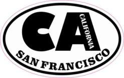 Oval CA San Francisco California Sticker