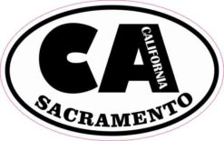 Oval CA Sacramento California Sticker