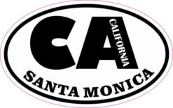 Oval CA Santa Monica California Sticker