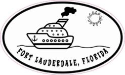 Cruise Ship Oval Fort Lauderdale Sticker