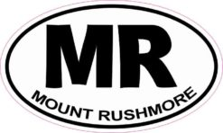 Oval MR Mount Rushmore Sticker