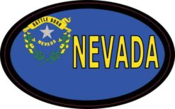Flag Oval Nevada Sticker