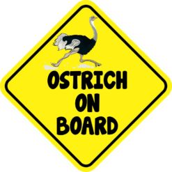 Ostrich On Board Magnet