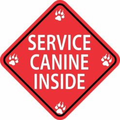 Service Canine Inside Sticker