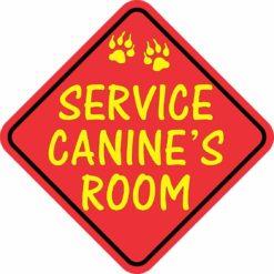 Service Canine's Room Sticker