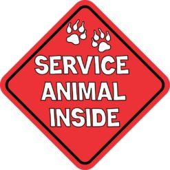 Service Animal Inside Sticker