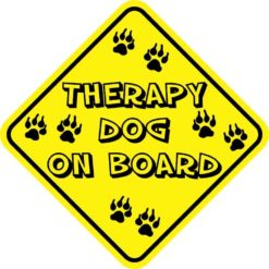 Therapy Dog On Board Magnet