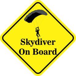 Skydiver On Board Sticker