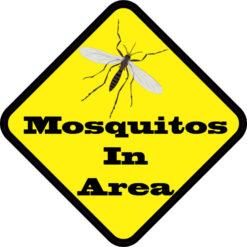 Mosquitos In Area Sticker