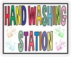 Hand Washing Station Sticker