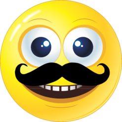 Mustache Happy Face Sticker