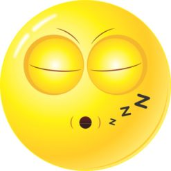 Sleepy Face Sticker