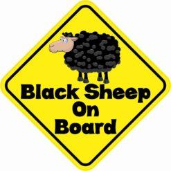 Black Sheep On Board Sticker