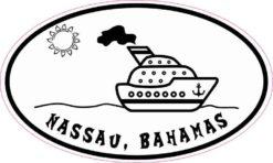Cruise Ship Oval Nassau Sticker