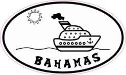 Cruise Ship Oval Bahamas Sticker