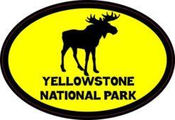 Yellow Moose Oval Yellowstone National Park Sticker