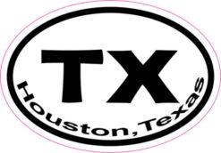 Oval Houston Sticker