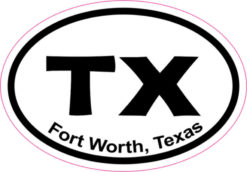 Oval Fort Worth Sticker