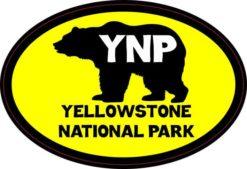 Oval Bear Yellowstone National Park Sticker