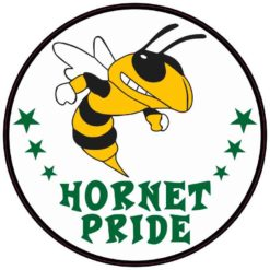 Green and Gold Hornet Pride Sticker
