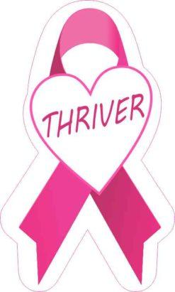 Thriver Breast Cancer Ribbon Sticker