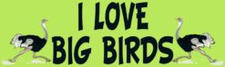 I Love Big Birds Sticker