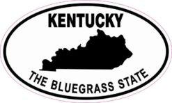 Oval Kentucky the Bluegrass State Sticker