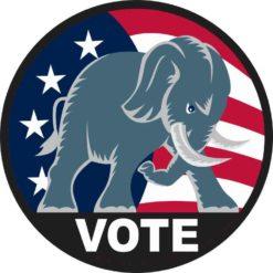 Republican Elephant Vote Sticker