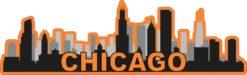 Orange Chicago Skyline Sticker