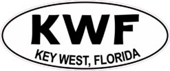 Oval KWF Key West Florida Sticker