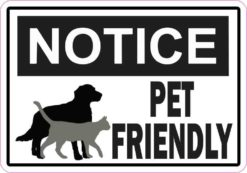Symbol Notice Pet Friendly Sticker