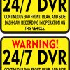 dvr recording stickers