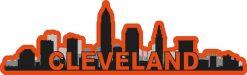 Orange Cleveland Skyline Sticker