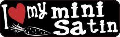 I Love My Mini Satin Bumper Sticker