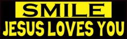 Yellow and Black Smile Jesus Loves You Magnet