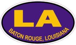 Purple and Gold Oval Baton Rouge Louisiana Sticker