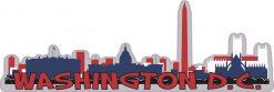 Patriotic Washington D.C. Skyline Sticker