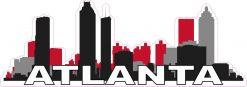 Red Atlanta Skyline Sticker