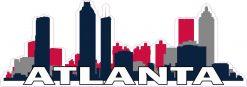 Patriotic Atlanta Skyline Sticker