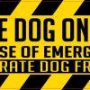 Service Dog on Board Sticker