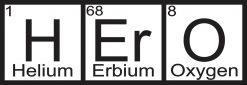 Periodic Table Hero Bumper Sticker