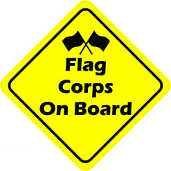 Flag Corps On Board Sticker