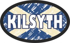 Oval Scottish Flag Kilsyth Sticker