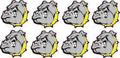 Yellow Collared Bulldog Stickers