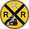 Train Railroad Crossing Sticker