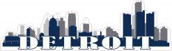 Blue Detroit Skyline Sticker