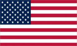 American Flag Permanent Vinyl Sticker
