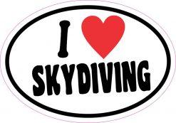 I Love Skydiving Sticker