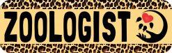 Leopard Print Zoologist Magnet