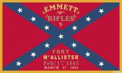 Emmett Rifles Flag Sticker